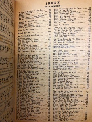 [Shape Notes] Glad Morning: Our First 1965 Book for Singing Conventions, Singing Schools, Sunday Schools, etc.