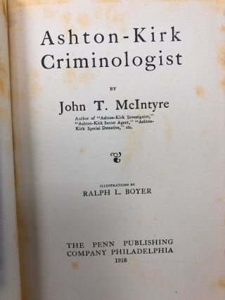 Ashton-Kirk Criminologist