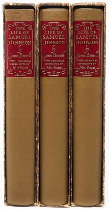 The Life of Samuel Johnson, L.L.D. (In Three Volumes). James Boswell, Hester Lynch Thrale Piozzi,...