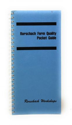 Rorschach Form Quality Pocket Guide