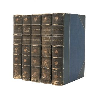 Morrell Bindings, 5 Vol. Set] Novels and Tales by the Earl of Beaconsfield: Vivian Grey,...