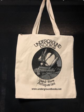 The Underground Books Tote-Pak: Converts from Tote to Backpack!