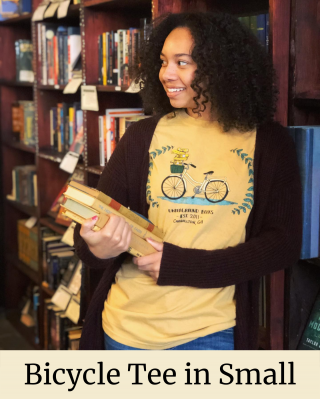 Underground Books Bicycle Tee in SMALL