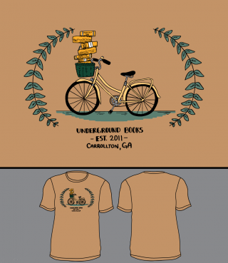 Underground Books Bicycle Tee in LARGE