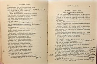 Shakespeare's Comedy of Twelfth Night; Or, What You Will [Hand-Annotated by Guy Wheeler Shallies]
