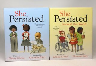She Persisted Boxed Set with SIGNED Print: She Persisted and She Persisted Around the World
