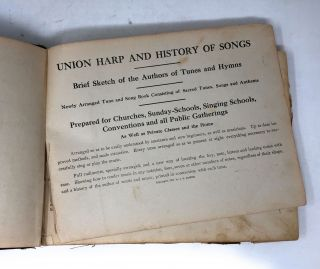 Union Harp and History of Songs with Sketch of the Authors of Tunes and Hymns