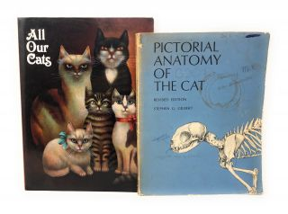 Collection of 15 Vintage Cat Related Books and Ephemera