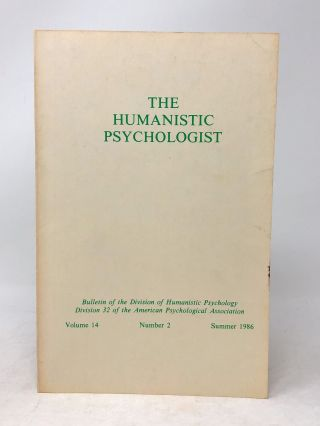 The Humanistic Psychologist Volume 14 Number 2 Summer 1986. Christopher Aanstoos