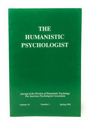 The Humanistic Psychologist Volume 19 Number 1 Spring 1991. Christopher Aanstoos