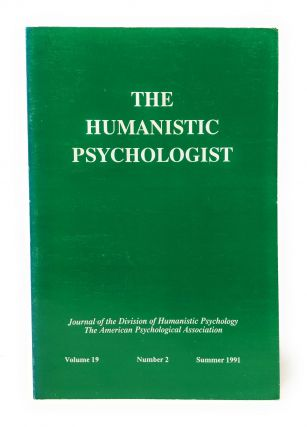 The Humanistic Psychologist Volume 19 Number 2 Summer 1991. Christopher Aanstoos