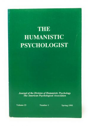 The Humanistic Psychologist Volume 23 Number 1 Spring 1995. Christopher Aanstoos