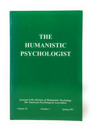 The Humanistic Psychologist Volume 25 Number 1 Spring 1997. Christopher Aanstoos