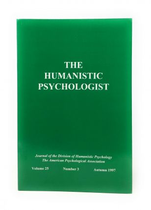 The Humanistic Psychologist Volume 25 Number 3 Autumn 1997. Christopher Aanstoos