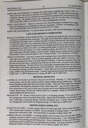 Lesbian Connection: A Nationwide Forum of News & Ideas For, By & About Lesbians, 37 Issues, 1993-2000 [Lesbian Magazine]