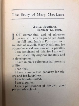 The Story of Mary Maclane [LGBTQ Interest]