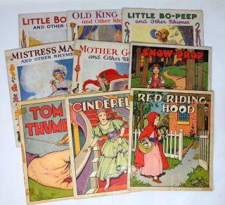 Nine Linenette and Sam'l Gabriel Picture Books: Cinderella, Snow-Drop, Red Riding Hood, Tom...