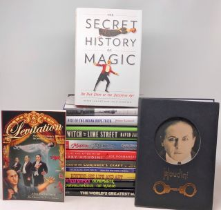 Lot of 13 Books About Magic History, Illusion, Conjuring, Houdini, and More. Joseph Dunninger,...