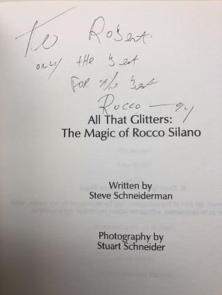 """All That Glitters: The Magic of Rocco Silano [""""If it fits...Sleeve it!""""]"""