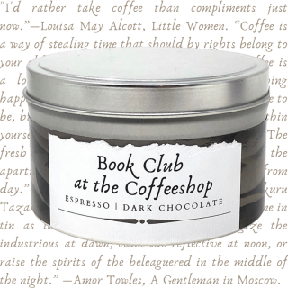 Book Club at the Coffee Shop | Literary Candle