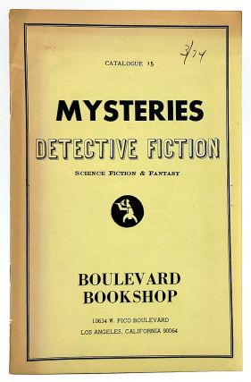 Mysteries, Detective Fiction, Science Fiction and Fantasy [Catalogue no. 15 from Boulevard Bookshop