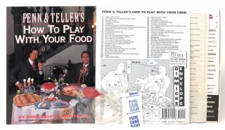 Penn & Teller's How to Play with Your Food, including as-issued Gimmicks Envelope (Bag of...