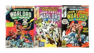 Edgar Rice Burroughs' Warlord of Mars: Annual #1, Issue #2, and Issue #3 [Three Marvel Comics]....