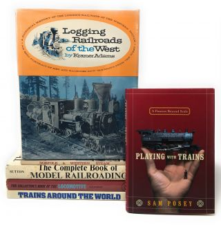Lot of 6 Books on Trains and Railroads] Trains Around the World, The Collectors' Book of the...