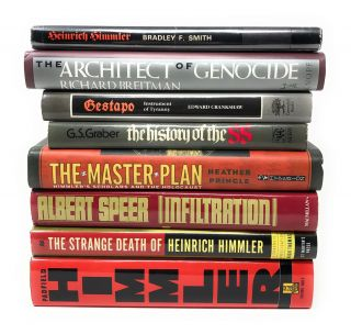 Lot of 8 Books About Himmler: Heinrich Himmler; The Architect of Genocide; Gestapo: Instrument of...