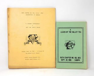 Two 1980s Publications of Historically Black Atlanta Chapter of the Order of the Eastern Star