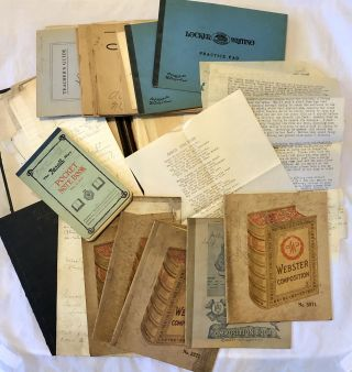 1920s Archive of Handwritten Student Notebooks from Martha Washington College for Young Ladies...