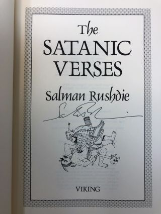 The Satanic Verses [SIGNED FIRST EDITION]