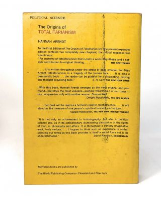 The Origins of Totalitarianism [SIGNED]