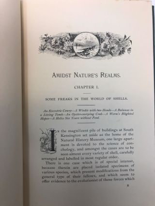 Amidst Nature's Realms: A Series of Zoological, Botanical, and Geological Essays