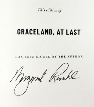 Graceland, At Last: Notes on Hope and Heartache From the American South [SIGNED FIRST EDITION]